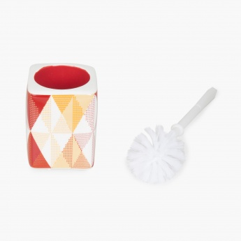 HUDSON DIAMONDS Printed Ceramic Square Toilet Brush Holder