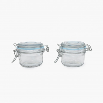 Peroni-Cuba Glass Canister-Set Of 2 Pcs. (125 ml. Each)