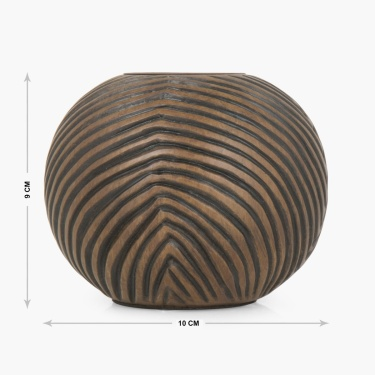 Adrian Maria Wooden Textured Light Holder