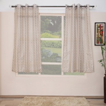 Matrix Embroidered Window Curtains-Set Of 2 Pcs.