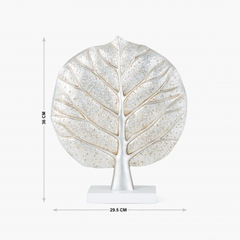 Splendid Flute Textured Leaf Table Accent
