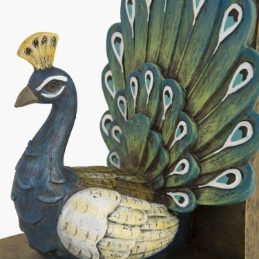 Splendid Warner Peacock Bookend