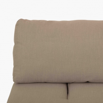 Dallas Fabric Armless Sofa 1 Seater