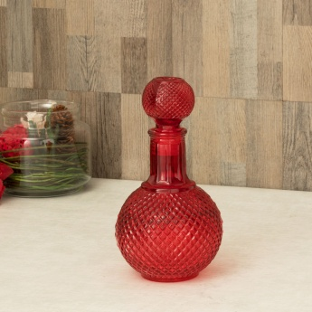 Peaches Embossed Glass Decanter
