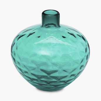 Splendid Volcano Textured Round Glass Vase