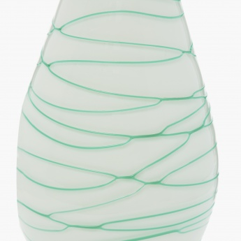Bentley-Ashley Textured Round Glass Swirl Vase
