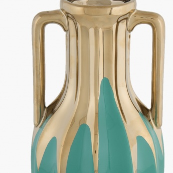 Splendid Zara Gold Accent Vase With Handle