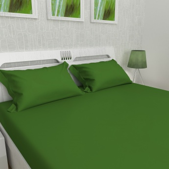 Signature Solid Double Bed Sheet-Set Of 3 Pcs.