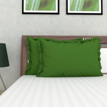 Signature Solid Pillow Cover-Set Of 2 Pcs.