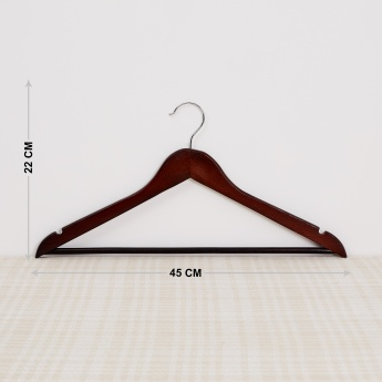 Winston Kennedy Wooden Shirt Hangers- 6 Pcs.