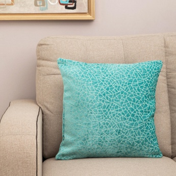 MATRIX Chenille Chevron Filled Cushion