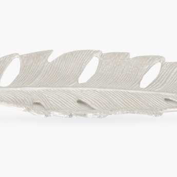 Chroma Textured Cut Leaf Platter