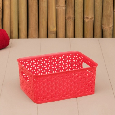 HUDSON Textured Rectangular Open Storage Container