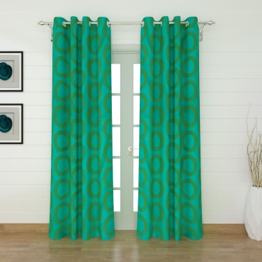 Griffin Aster Geometric Door Curtain Pair - 135 x 225 cm