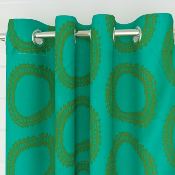 Griffin Aster Geometric Door Curtains- Set Of 2 Pcs.