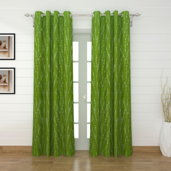 Griffin Heliconia Printed Blackout Door Curtains - 2 Pcs.