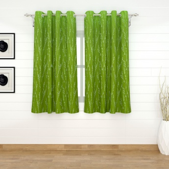 Griffin Heliconia Contemporary Window Curtains- Set Of 2 Pcs.