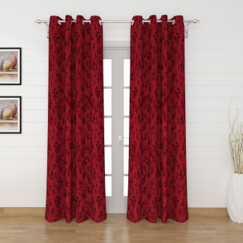 Griffin Paradise Floral Door Curtains- Set Of 2 Pcs.