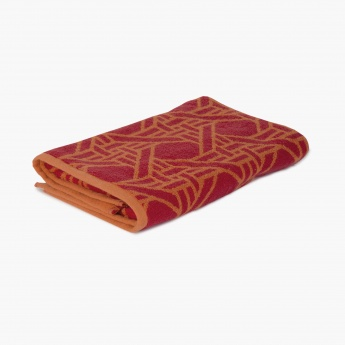 HUDSON Redorange Cotton Bath Towel