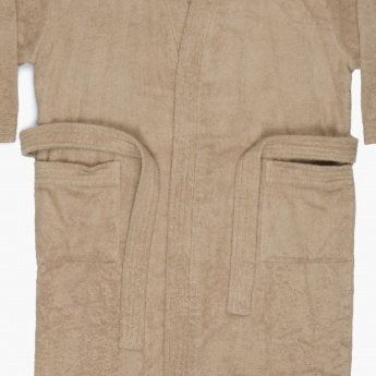 HUDSON MALIBU Solid Cotton Adult Bathrobe
