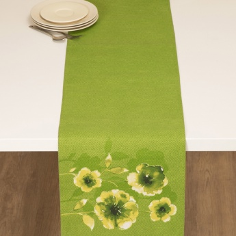 Meadows Tropical Jungle Checkered Table Runner