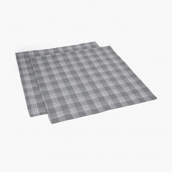 Meadows Tropical Jungle Checkered Napkins -Set Of 2 Pcs.