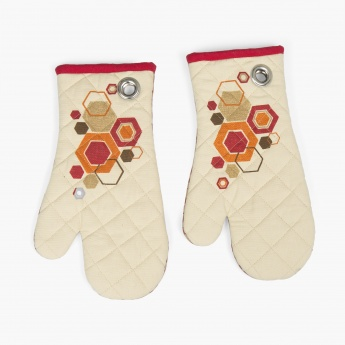 Manderin Bohemian sunset Mitten-Set Of 2 Pcs.