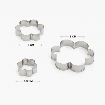 Sweetshop Stainless Steel Abstract Cookie Cutter -Set Of 3 Pcs.