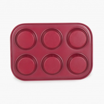 SWEETSHOP Metal Six Cups Muffin Pan