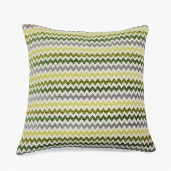 CELEBRATION Chenille Stripe Cushion Covers - Set Of 2 Pcs