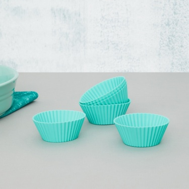Sweetshop Silicone Round Cup Cake Mould-Set Of 6 Pcs.