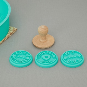 Sweetshop Silicone Round Cookie Stamp-Set Of 3 Pcs.