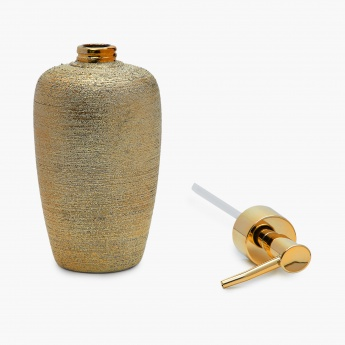 Hudson Ellery Textured Ceramic Round Soap Dispenser