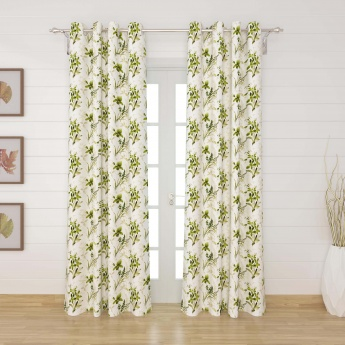 MATRIX Printed Door Curtains- Set Of 2 Pcs.