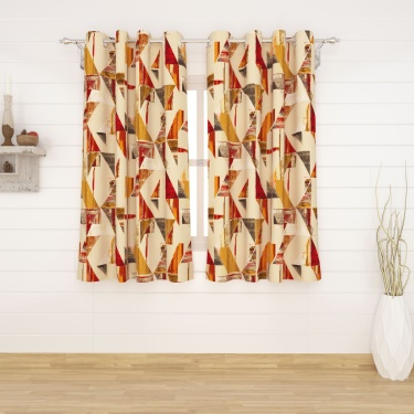 MATRIX Printed Window Curtains-Set Of 2 Pcs.