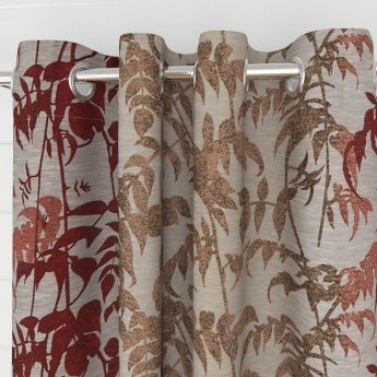 Matrix Floral Semi-Blackout Window Curtain