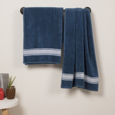 HILDA DOBBY Cotton Bath Towel- Set Of 2 Pcs