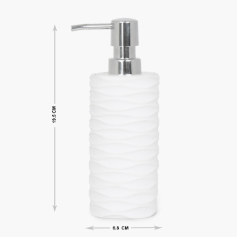 Marshmallow Detroit Textured Soap dispenser