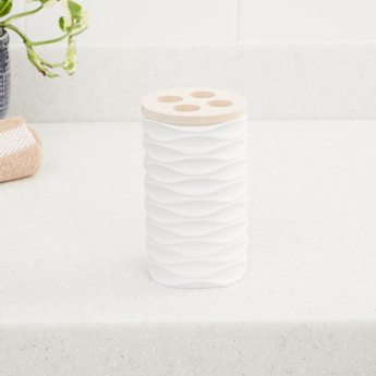 Marshmallow Detroit Textured Tooth Brush Holder