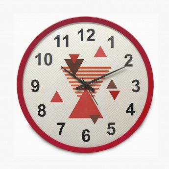 Casablanca Estacia Printed Round Wall Clock