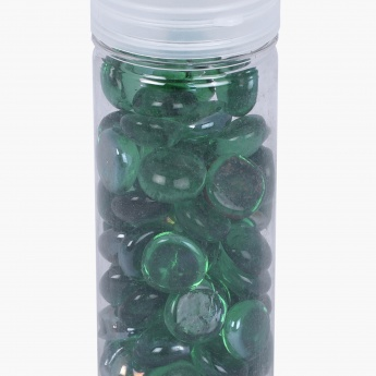 Redolence Crust Solid Round Glass Pebbles Box