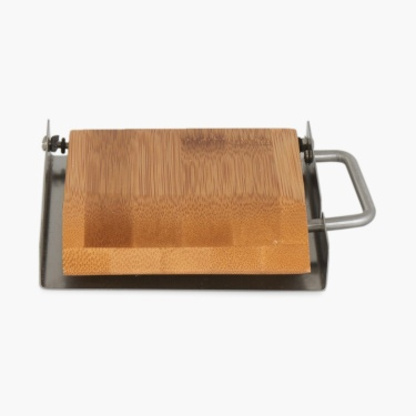 Hudson Duncan Solid Metal And Wood Square Toilet Paper Holder