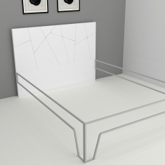 Crystal Blaze Textured Headboard