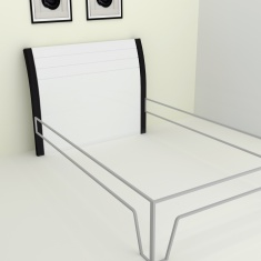 Alaska Felix Single Bed Headboard