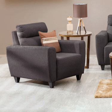 EMILY Fabric Armchair Brown