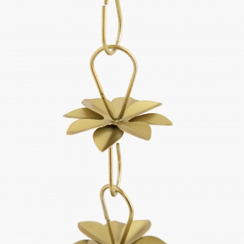 Majestic Hanging Lotus With Floral Chain