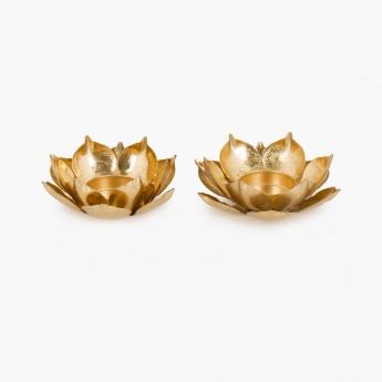 Redolence Neptune Lotus Light Holder Set- 2 Pcs.