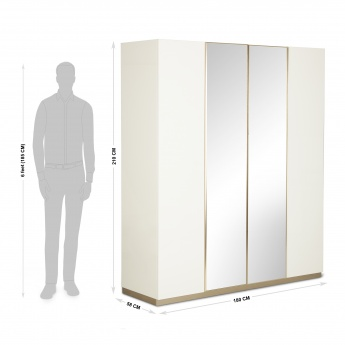 Phoenix Four-Door Wardrobe