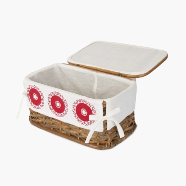 NORMA CIRCLE Bamboo Rectangular Sewing Box
