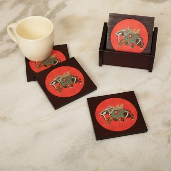 Eliana Nirvana Printed Coasters -Set Of 4 Pcs.